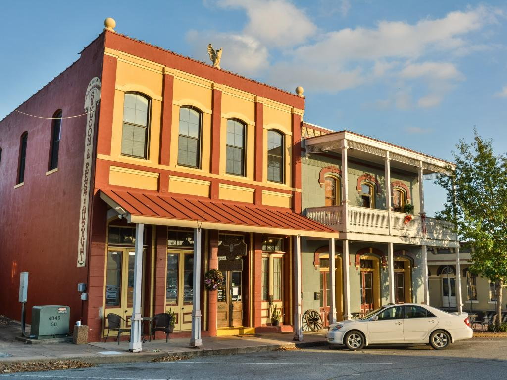 Dunlap Buildings, built in 1870, in Brenham, Texas