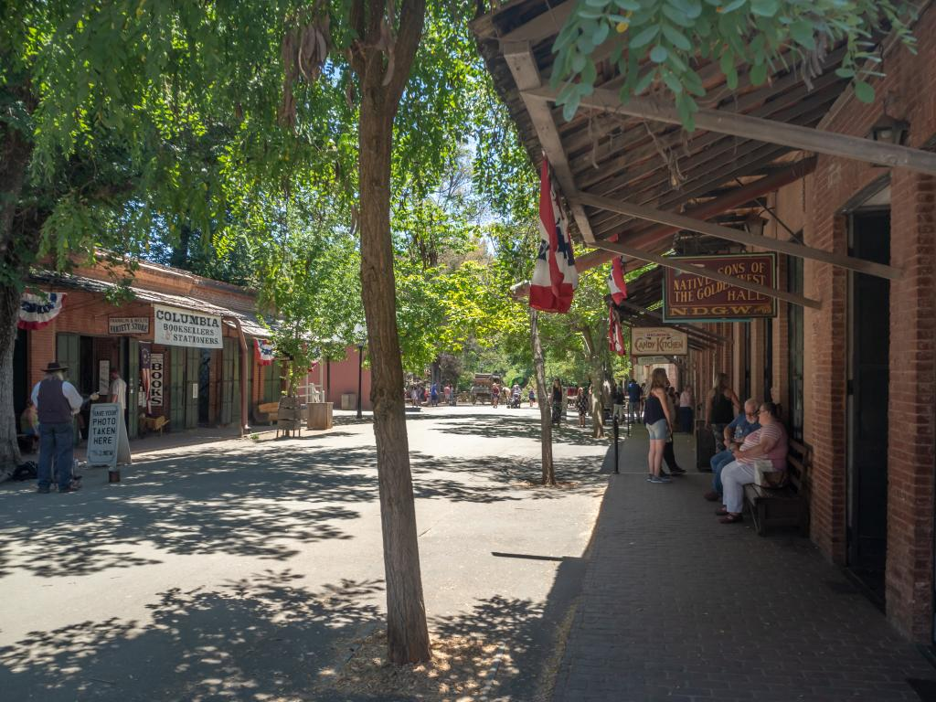 A traditional street in Columbia - Sierra Nevada foothills, Gold County, California