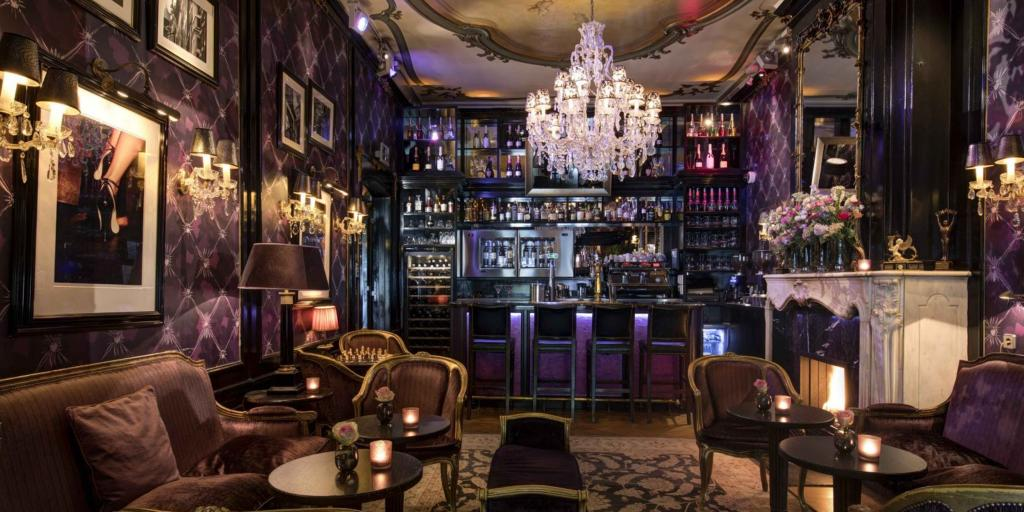 An amazing bar at The Toren Hotel in Amsterdam