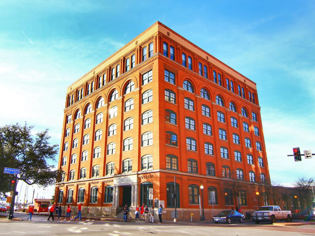 The Sixth Floor Museum in Downtown Dallas dedicated to the JF Kennedy assassination