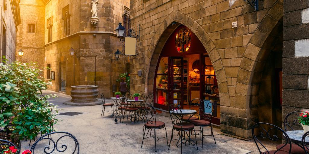 Barcelona restaurant on Spanish road trip