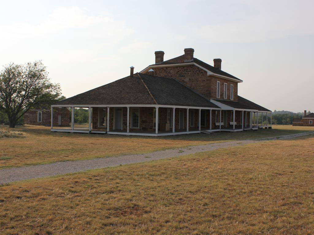 Restored Hospital building at the Fort Richardson State Park and Historic Site in Jacksboro, Texas.