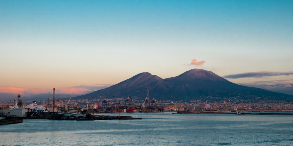 The impressive Mount Vesuvius volcano is a constant presence in this part of Italy