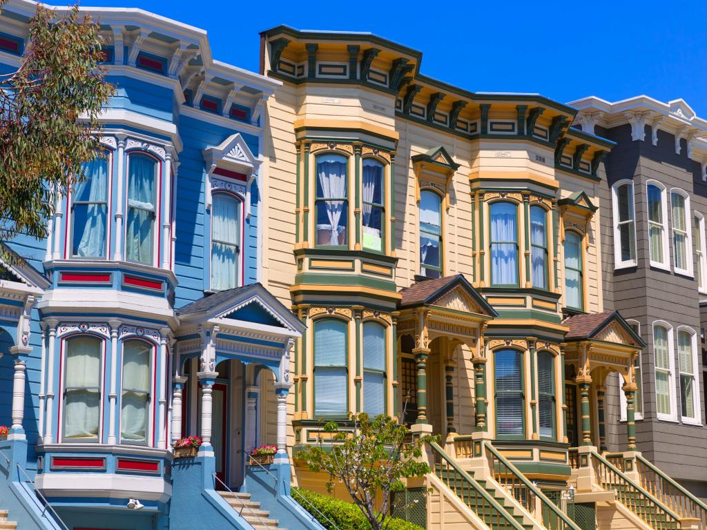 Colorful Victorian houses in San Francisco's Pacific Heights