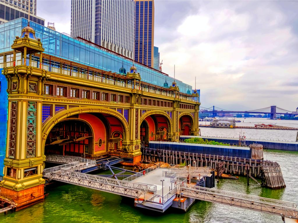 Battery Maritime Building on a gloomy weather at Manhattan