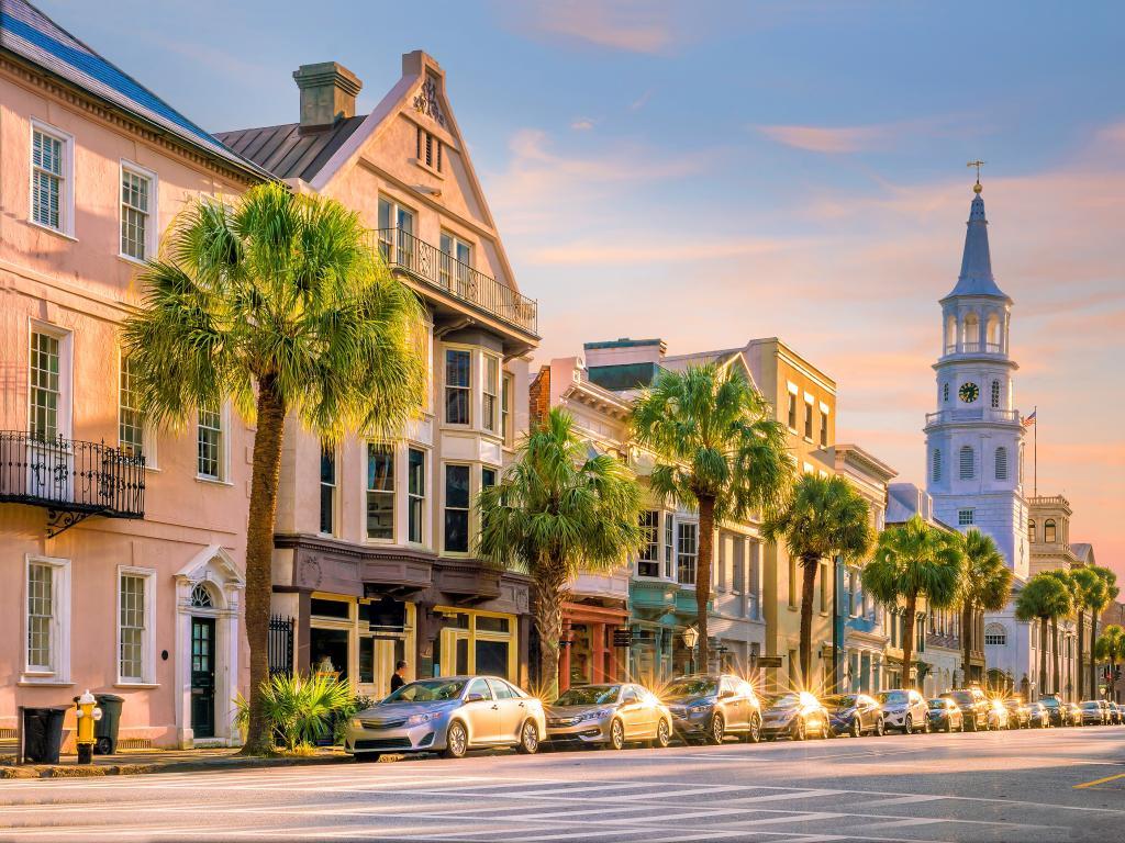 Sunset view of Charleston, South Carolina