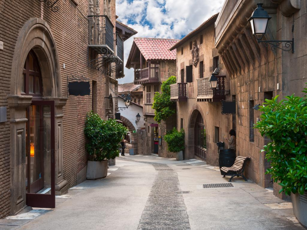 Historic Poble Espanyol - traditional architecture in Barcelona