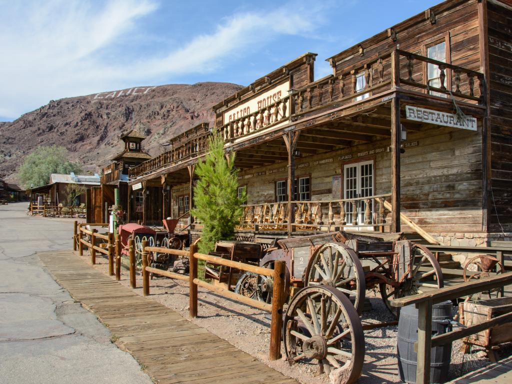 Old Saloon in the abandoned mining town of Calico in California.