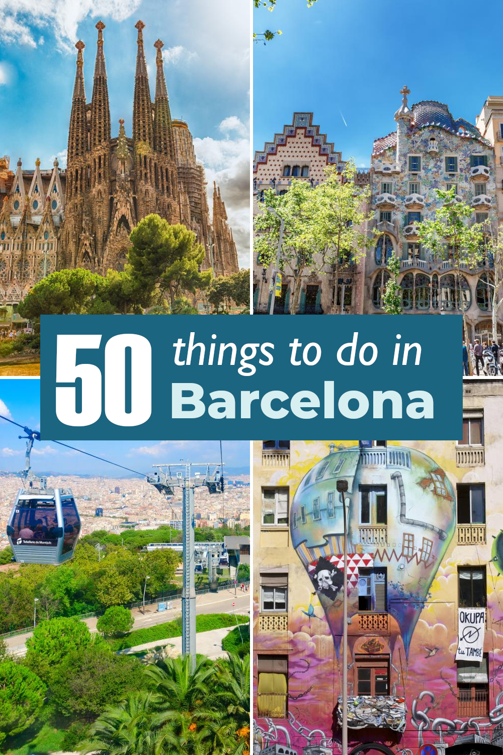 50 best things to do in Barcelona from museums and achitectural marvels to neighborhoods and best views of the city