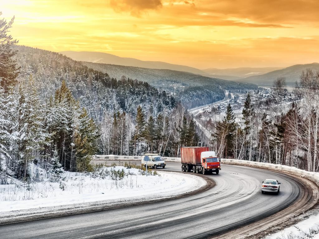 Russian pine forests and hilly landscapes make for stunning views along the length of the Trans-Siberian Highway.