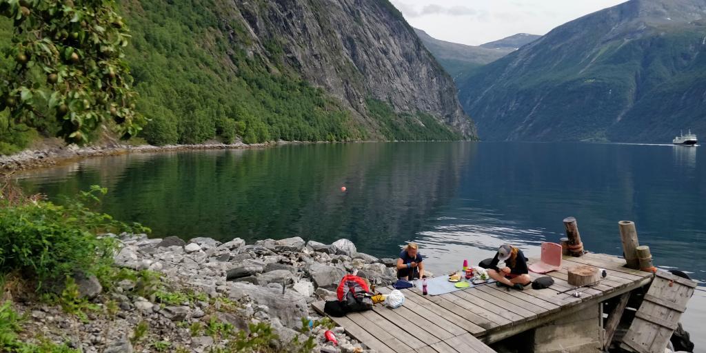 Preparing lunch in Norway