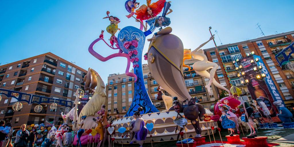 Dolls on parade at Las Fallas festival in Valencia, Spain
