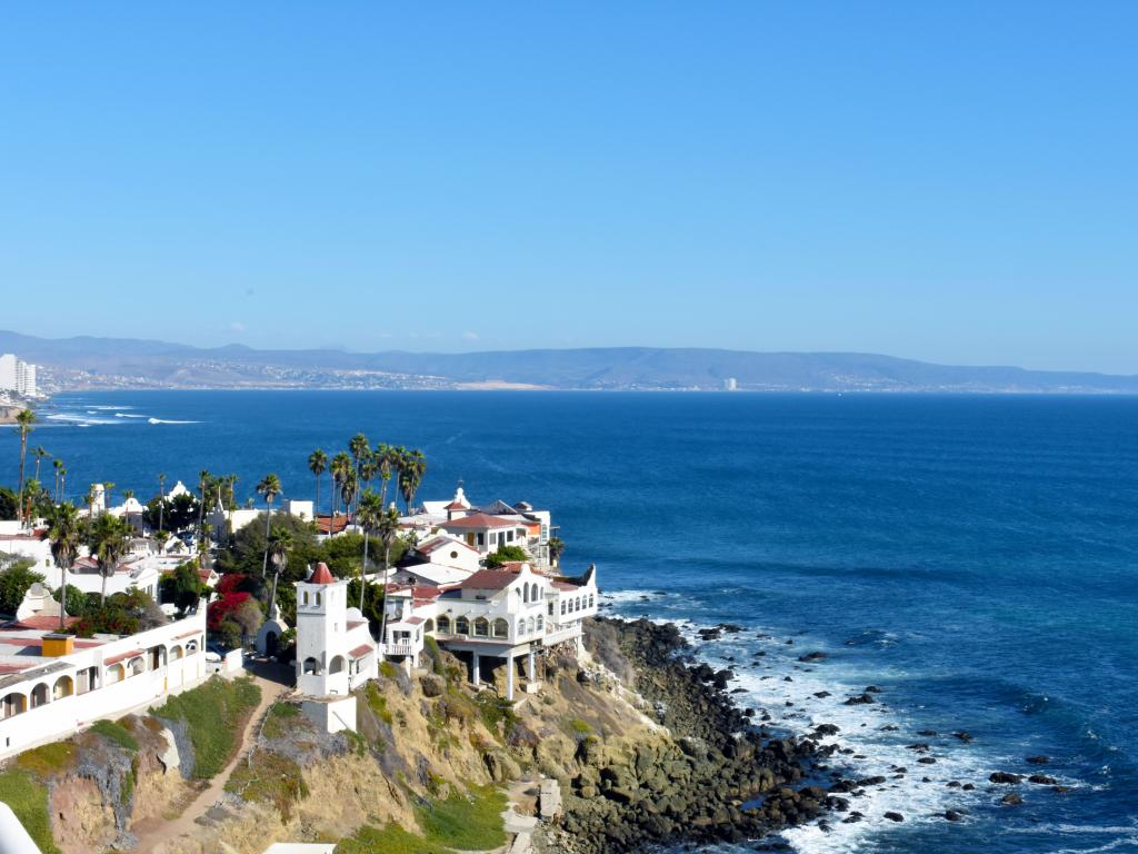 The coast of Rosarito in Baja California, Mexico - a few hours from Los Angeles