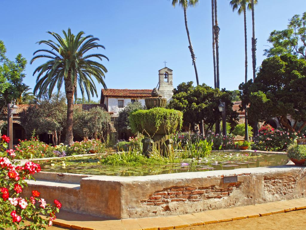 San Juan Capistrano Mission Gardens in California