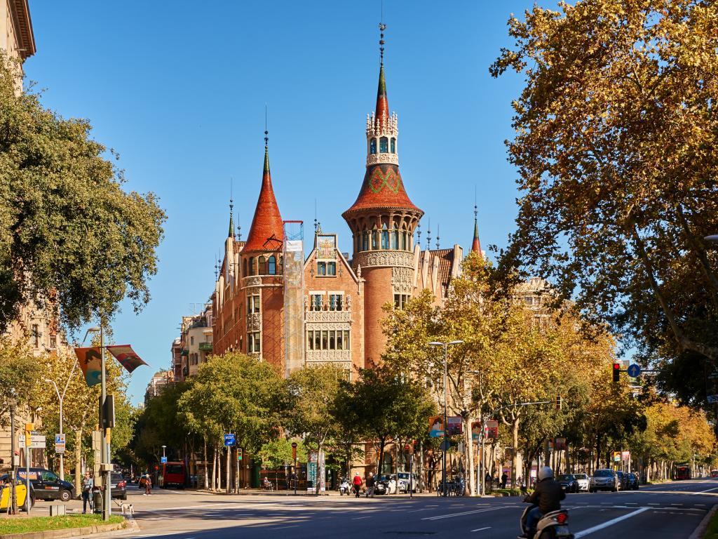 Casa de les Punxes in Barcelona, Spain