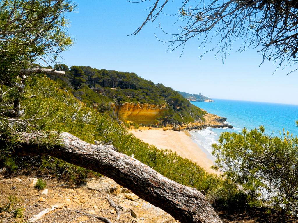 Secret Cala Fonda beach in Tarragona Spain, just over an hour from Barcelona