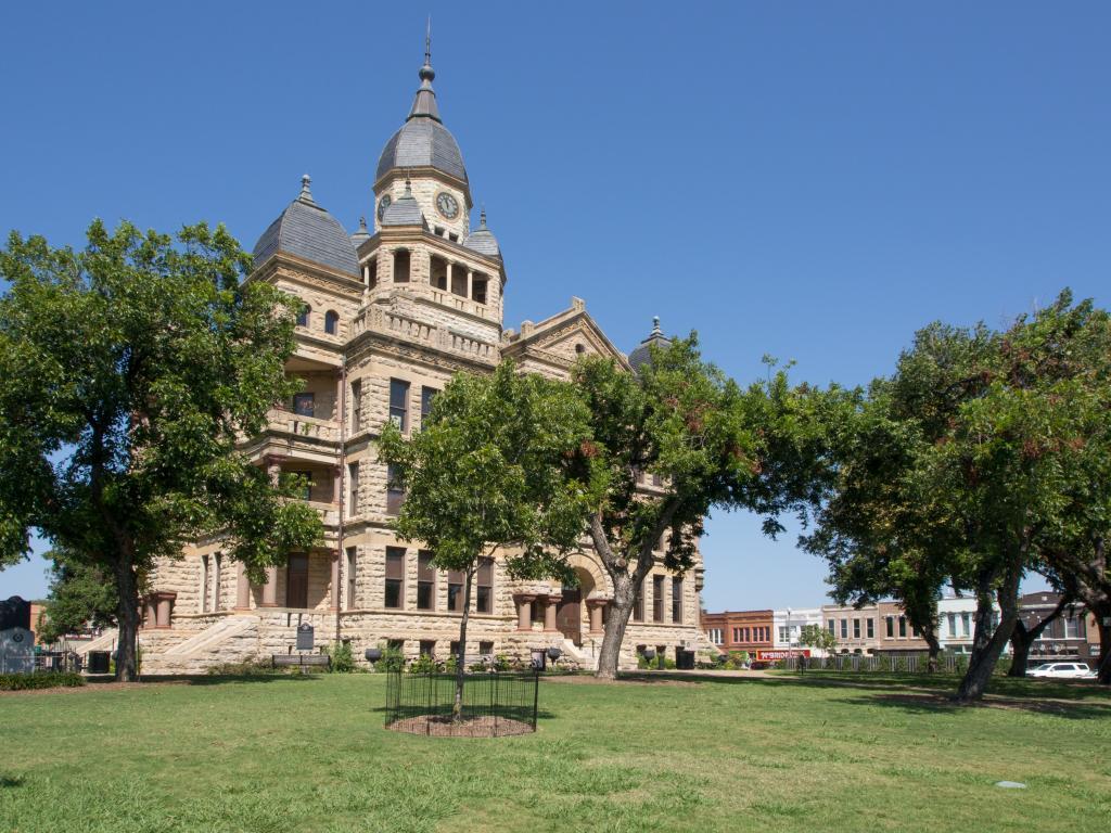 The Courthouse building on Denton Square in Denton, Texas