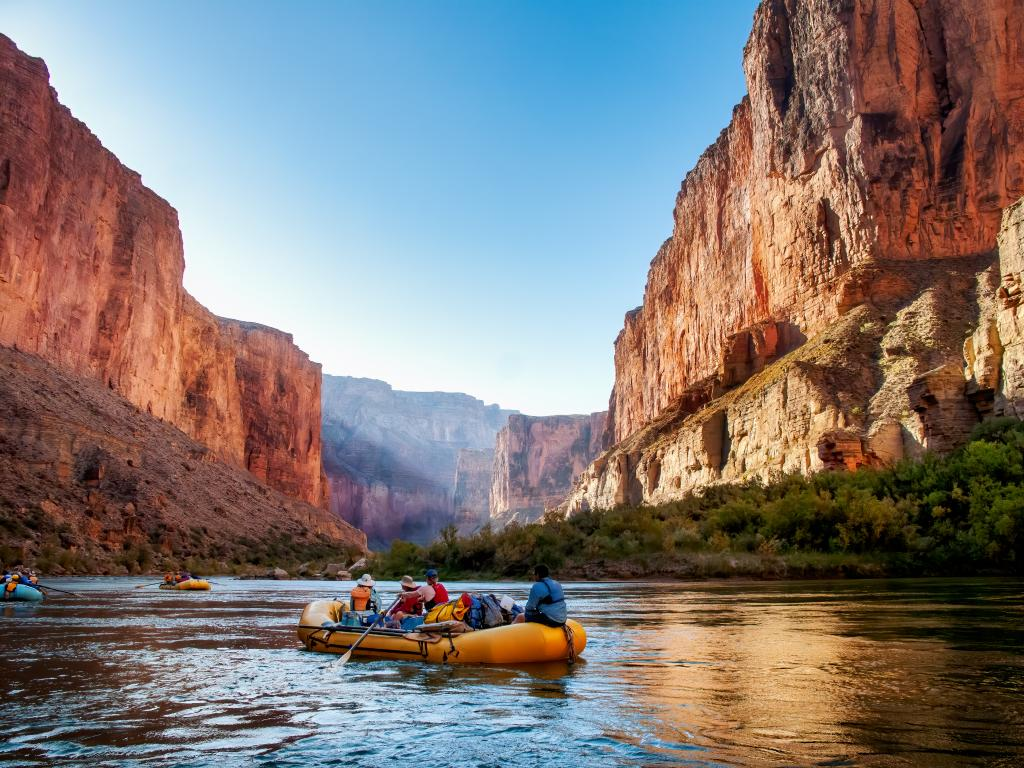 Rafting along Colorado River is one of the best things to do on a road trip from Denver to Grand Canyon.