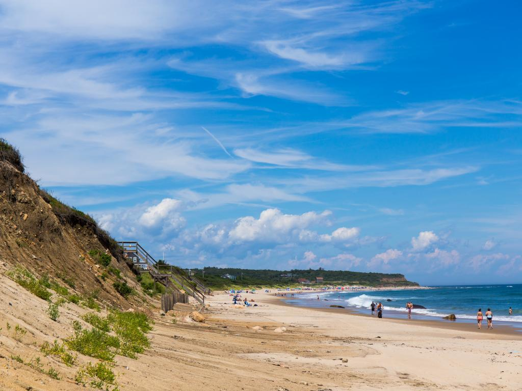 The never-ending sand beaches are one of the main attractions of Block Island.