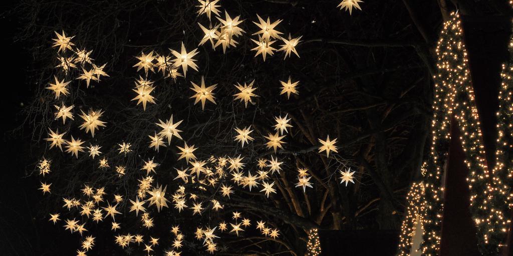 Star lights at Angel's Market, Cologne