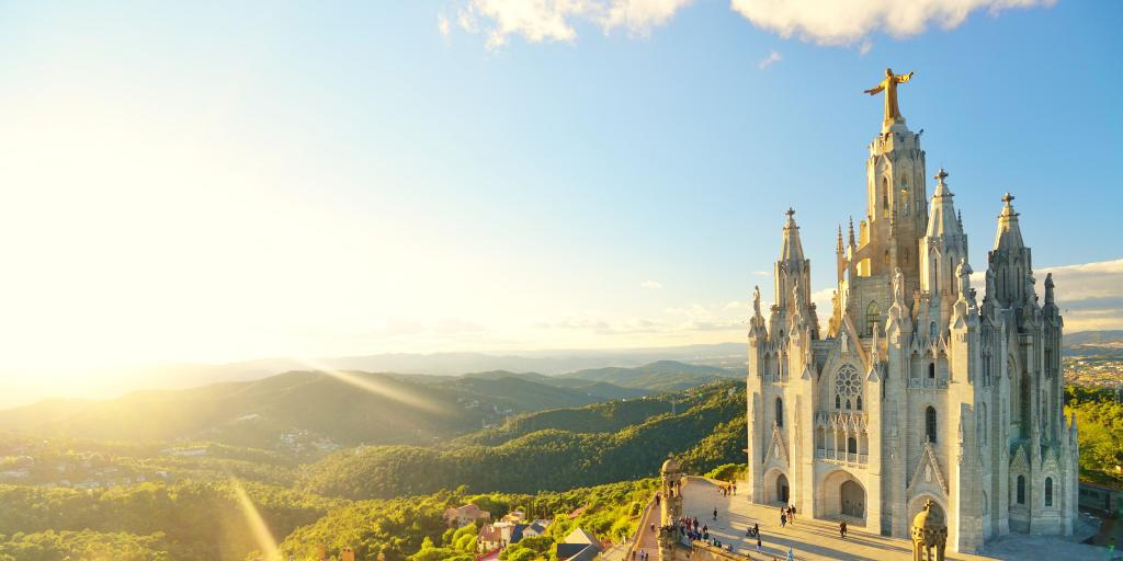 Temple Sacred Heart of Jesus on Tibidabo in Barcelona