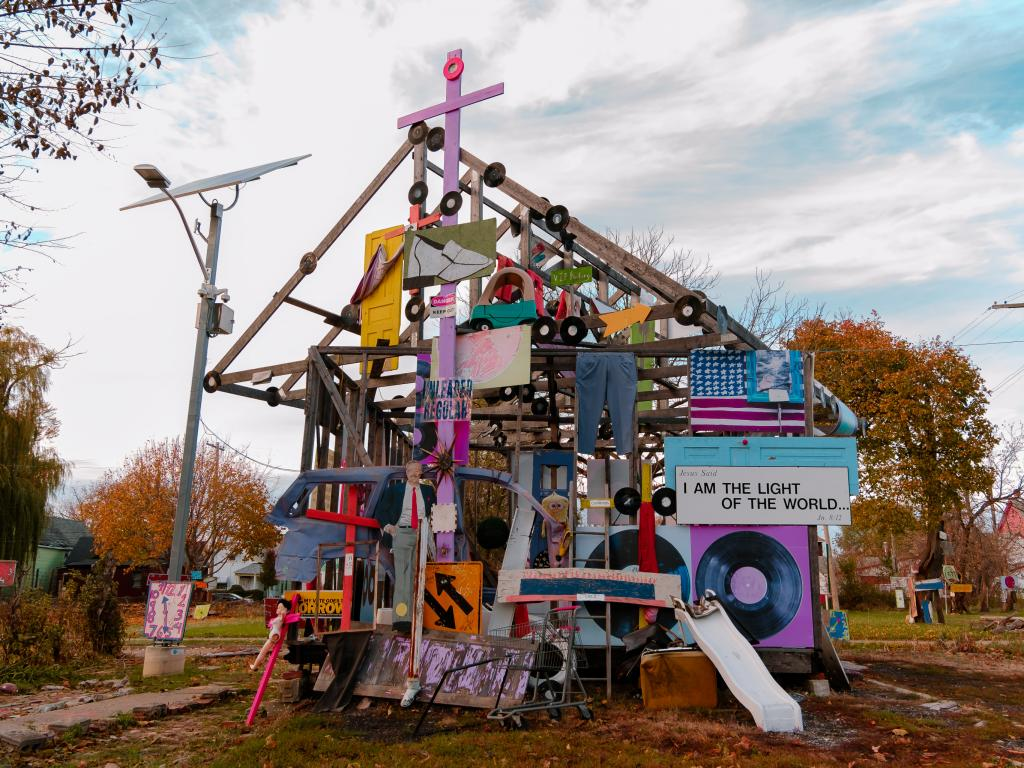 Heidelberg project - the outdoor museum project in Detroit, Michigan - across the border from Toronto