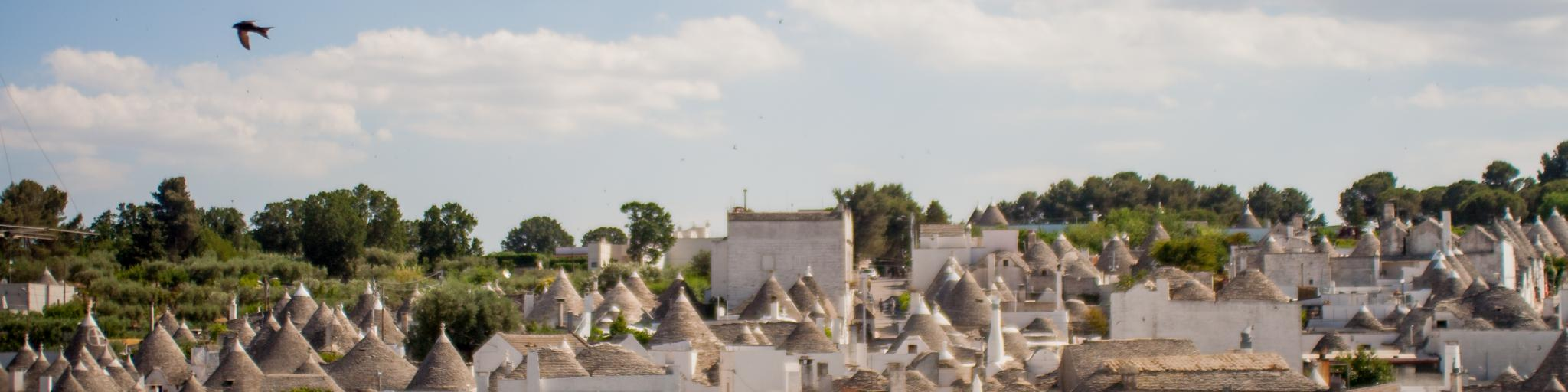 The roofs of the port city of Bari in Italy