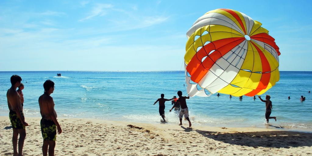Parasailing on Karon Beach, Phuket