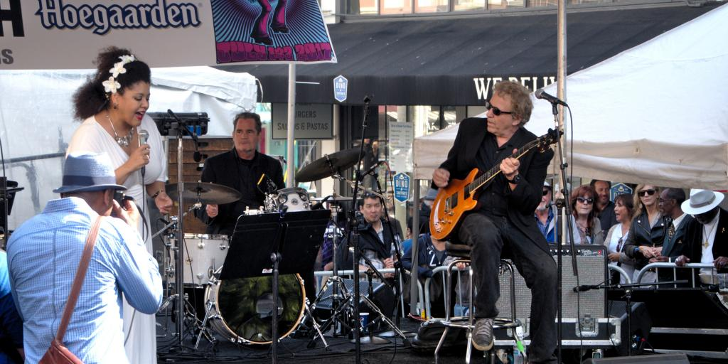 Street performance at the Fillmore Jazz Festival in San Francisco