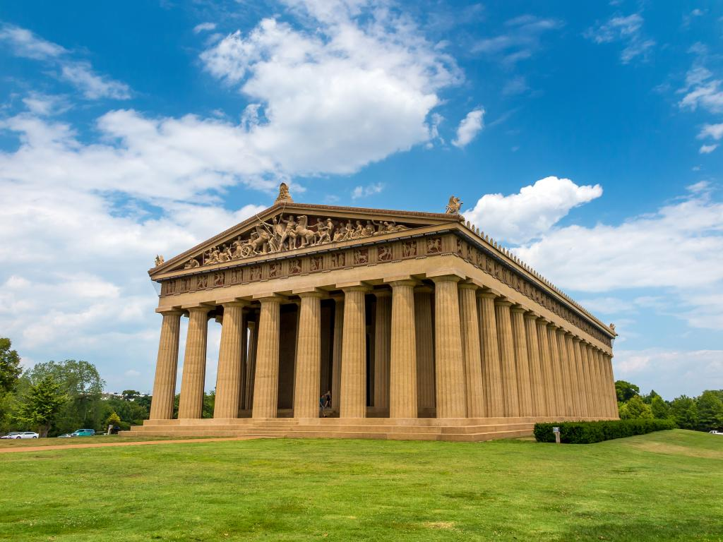 The Parthenon Replica at Centennial Park in Nashville, Tennessee