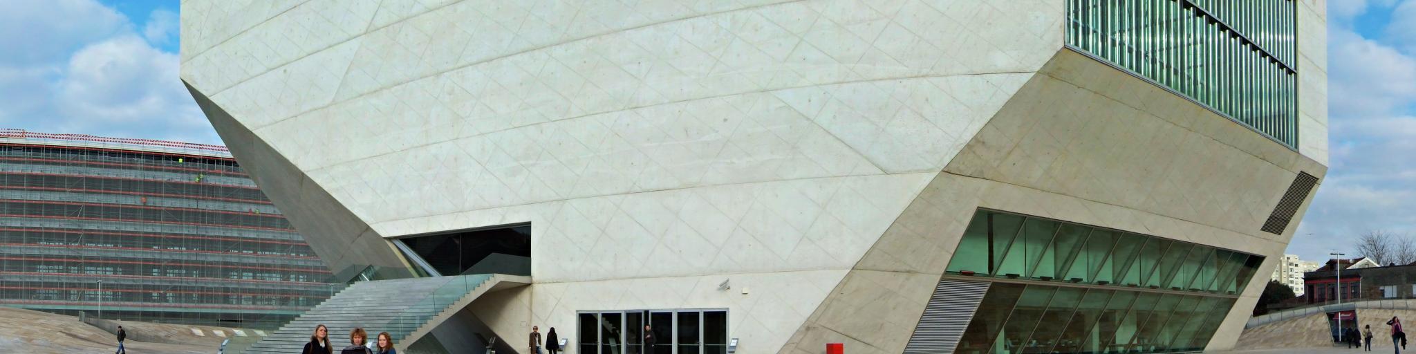 The distinctive modern architecture of Casa da Musica in Porto