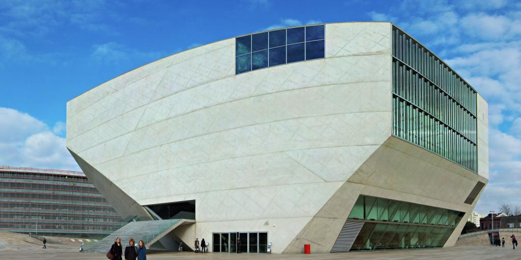 The distinctive modern architecture of Casa da Musica in Porto