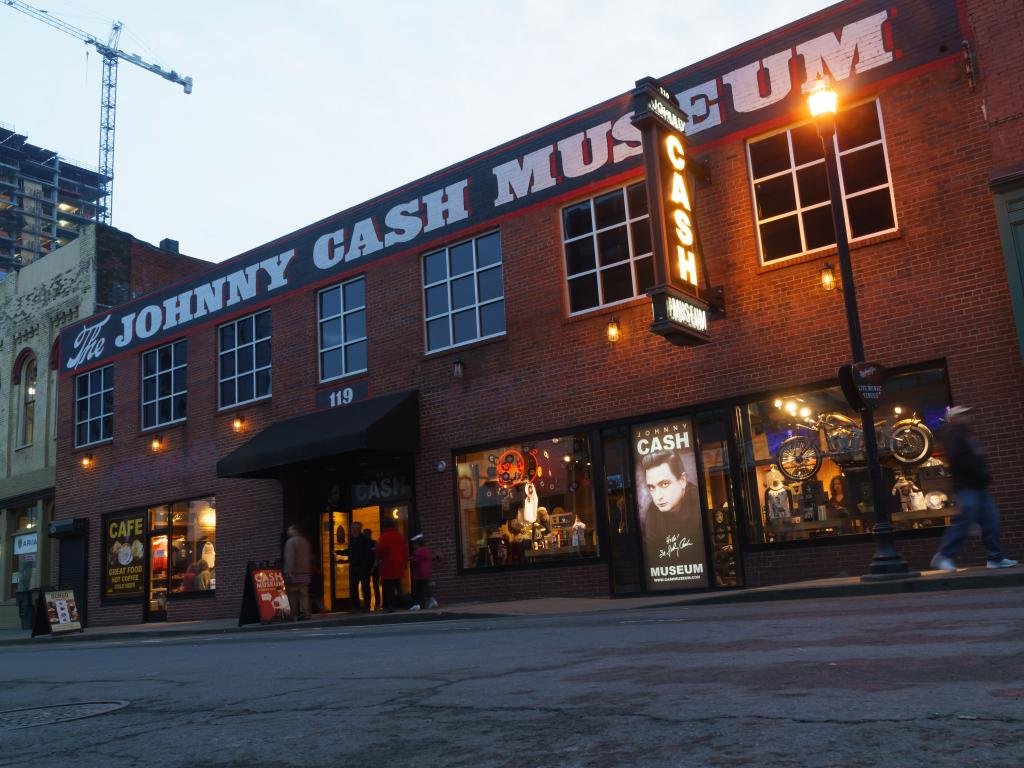 Johnny Cash museum building in downtown Nashville, Tennessee