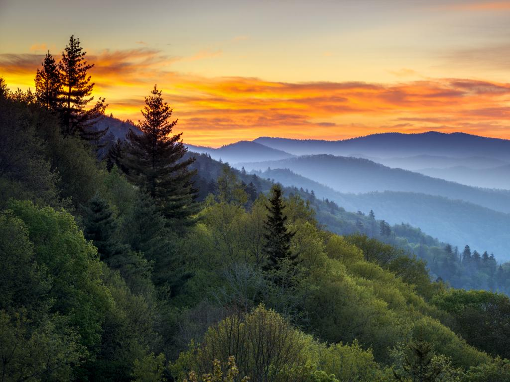 Great Smoky Mountains National Park at Oconaluftee Overlook