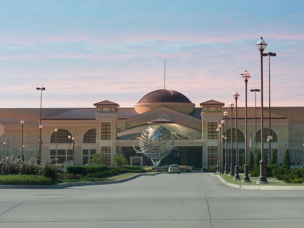 One of the entrances to the huge WinStar World Casino and Resort in southern Oklahoma.