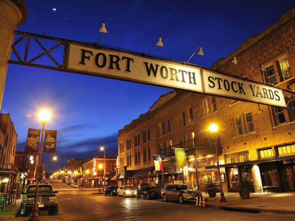 Fort Worth Stockyards Historic District street in Fort Worth, Texas
