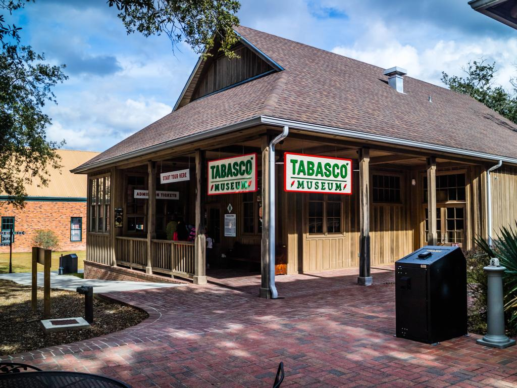 The Tabasco Museum building on Avery Island in Louisiana.