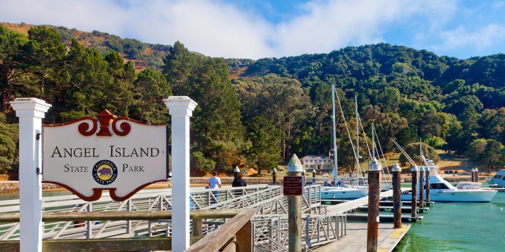 Angel Island California State Park pier in San Francisco