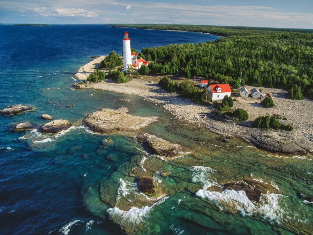 Cove Island Lighthouse off Bruce Peninsula in Ontario, 3 hours away from Toronto