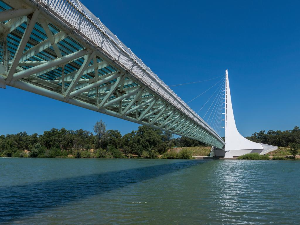 Sundial Bridge at Turtle Bay on the Sacramento River Trail in Redding, California