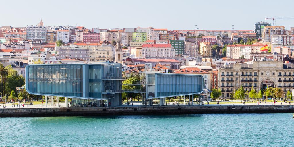 Santander's Centro Botin museum sits on the harbour seafront