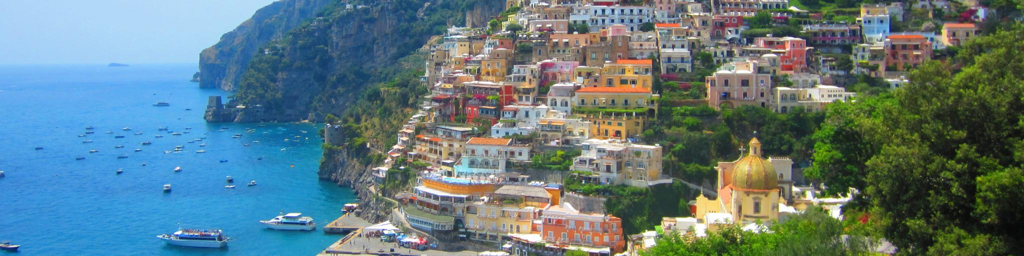 Colourful houses in Positano, Italy