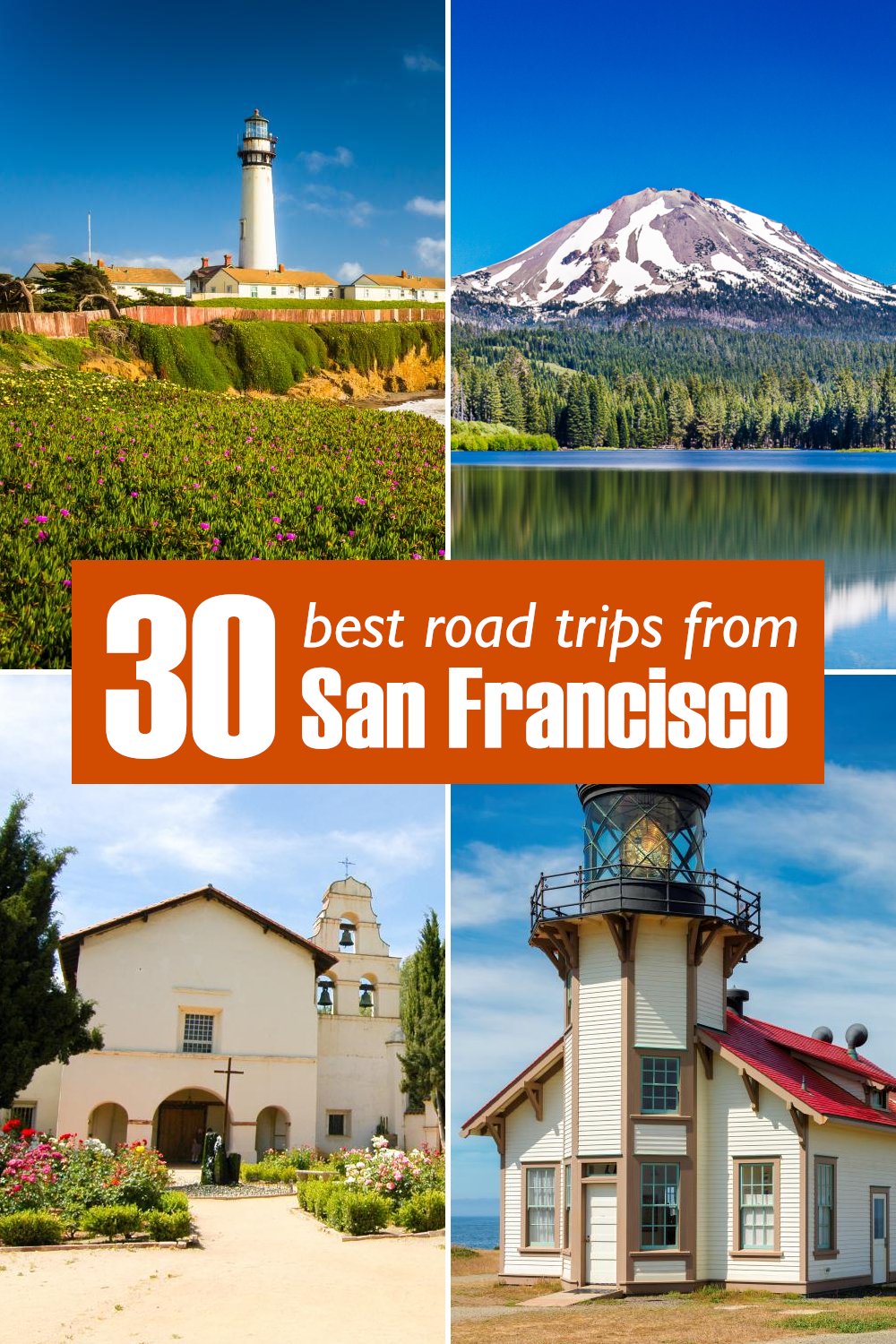 Best road trips from San Francisco - from short drives around California to week-long adventures to National Parks, exciting city breaks and neighbor states.