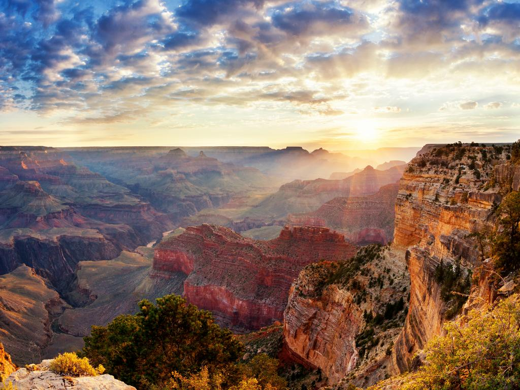 The stunning gorge of Grand Canyon National Park in Arizona.
