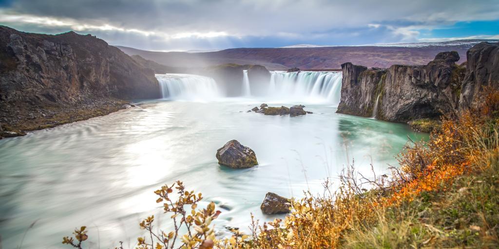 Godafoss waterfall outside Husavik, Iceland