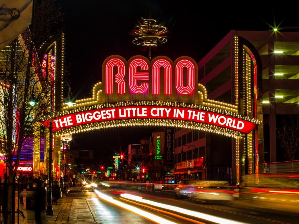 Reno Arch in downtown Reno, Nevada