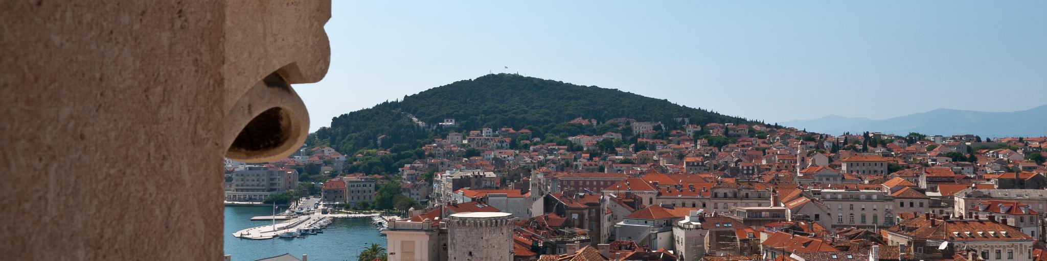 A gorgeous view of Split from the Belltower