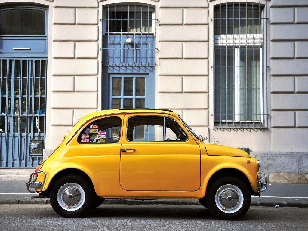 A bright yellow classic Beetle is one of the cars you can find in the Banana road trip game.