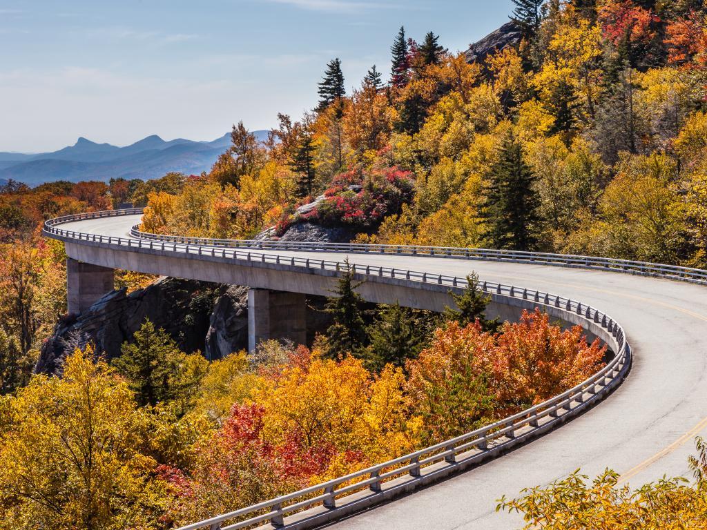 The Lynn Cove Viaduct along Blue Ridge Parkway, North Carolina