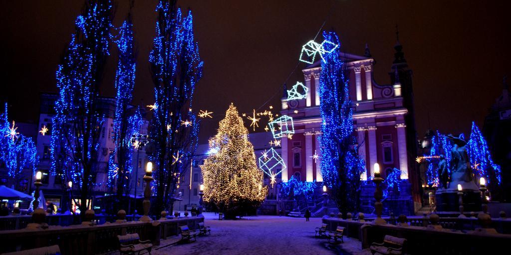 Christmas lights in Ljubljana, Slovenia